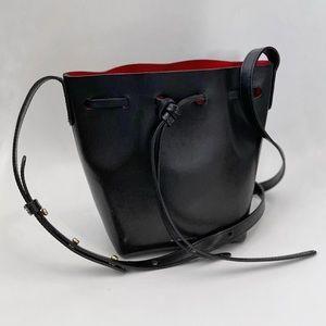 Mansur Gavriel Black/Flamma Mini Mini Bucket Bag